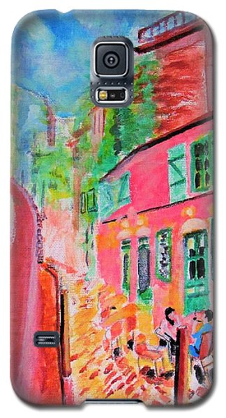 Montmartre Cafe In Paris Galaxy S5 Case