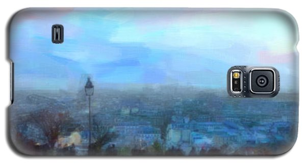 Galaxy S5 Case featuring the painting Montmartre From The Butte by Chris Armytage