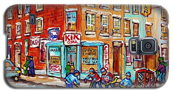 Montreal Storefront Paintings Debullion Street Hockey Art Quebec Winterscenes C Spandau Canadian Art Galaxy S5 Case