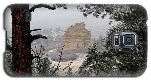 Monument Rock In The Snow Galaxy S5 Case