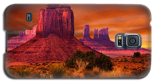 Monument Valley Sunset Galaxy S5 Case by Harry Spitz