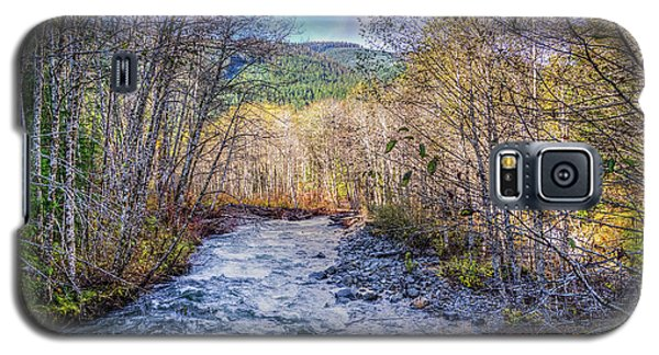 Galaxy S5 Case featuring the photograph Moody Blue River by Spencer McDonald