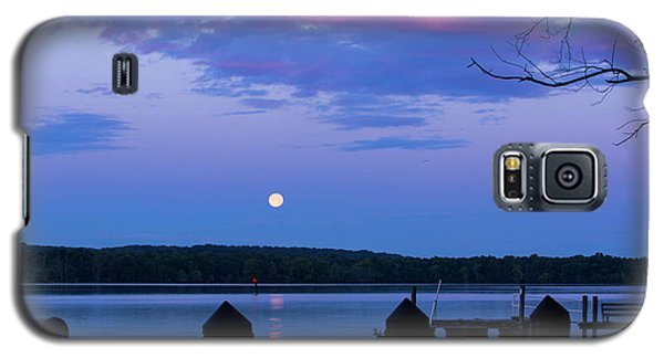 Moon And Pier Galaxy S5 Case