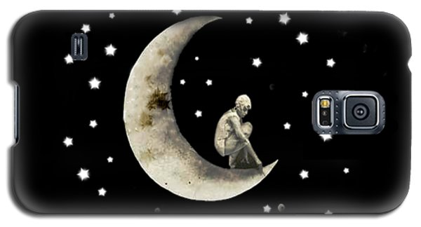 Moon And Stars T Shirt Design Galaxy S5 Case