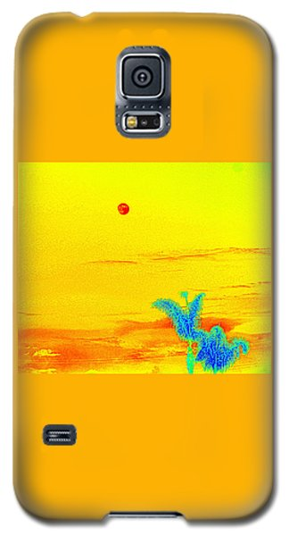 Moon And Two Palms Galaxy S5 Case