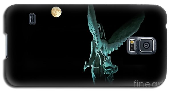 Galaxy S5 Case featuring the photograph Super Moon And Winged Goddess Of Victory by Charline Xia