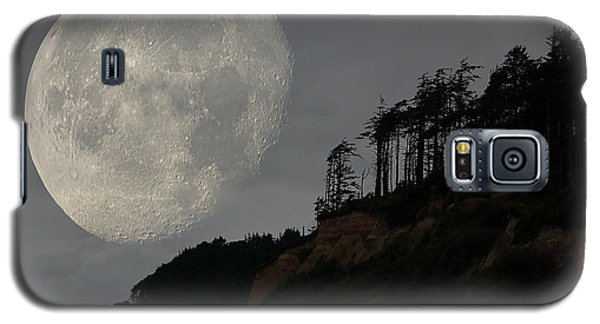Moon At Roosevelt Beach Wa Galaxy S5 Case
