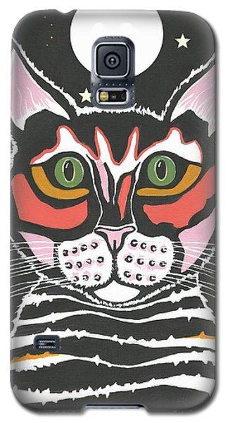 Moon Cat Galaxy S5 Case by Kathleen Sartoris