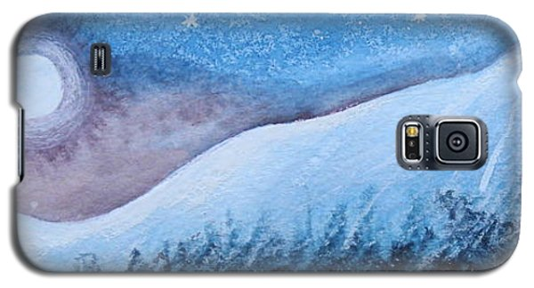 Galaxy S5 Case featuring the painting Moon Glow by Margaret Bobb