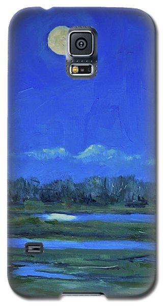 Moon Light And Mud Puddles Galaxy S5 Case by Billie Colson