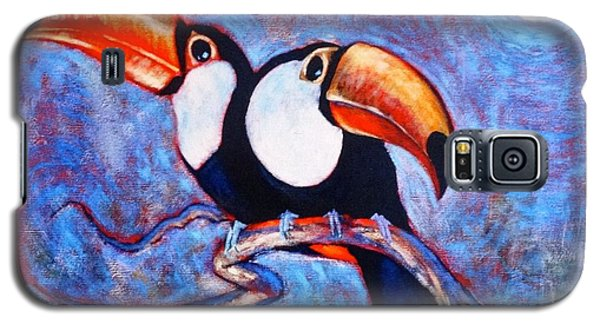 Moon Light Toucans Two Galaxy S5 Case by Charles Munn