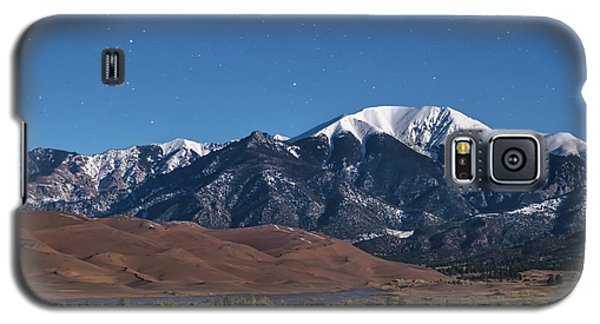 Moon Lit Colorado Great Sand Dunes Starry Night  Galaxy S5 Case by James BO Insogna