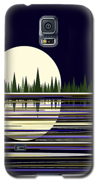 Moon Lit Water Galaxy S5 Case