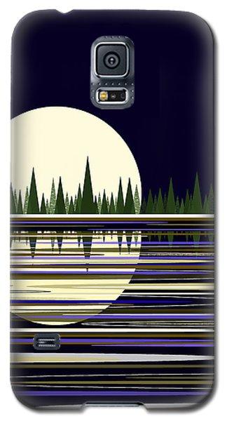 Moon Lit Water Galaxy S5 Case