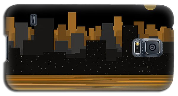 Moon Over City Skyline Galaxy S5 Case