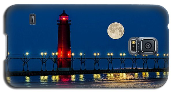 Moon Over Grand Haven Galaxy S5 Case