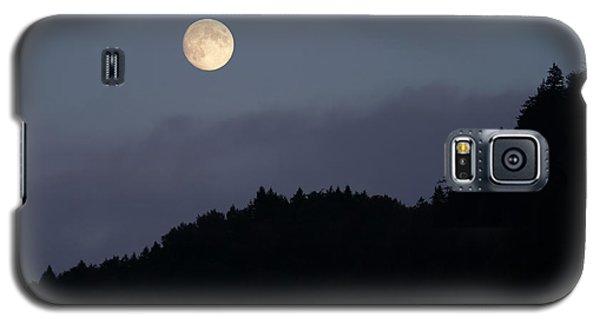 Galaxy S5 Case featuring the photograph Moon Over Hill by Menega Sabidussi