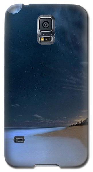 Moon Over Hobe Sound Beach Florida  Galaxy S5 Case