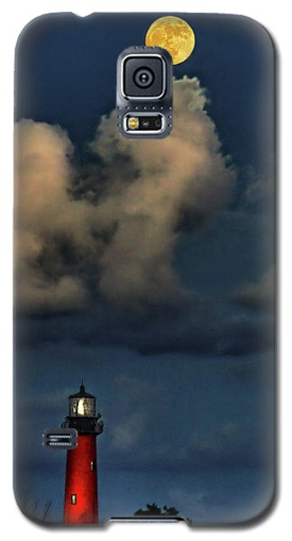 Moon Over Lighthouse Galaxy S5 Case