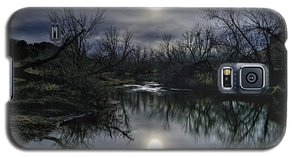 Moon Over Sand Creek Galaxy S5 Case