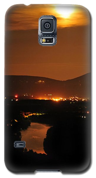 Galaxy S5 Case featuring the photograph Moon Over Shenandoah by Lara Ellis