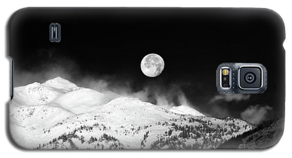 Moon Over The Alps Galaxy S5 Case