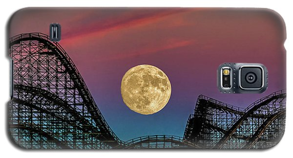 Moon Over Wildwood Nj Galaxy S5 Case