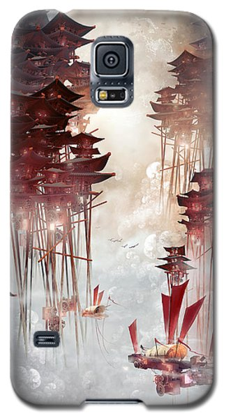 Galaxy S5 Case featuring the digital art Moon Palace by Te Hu