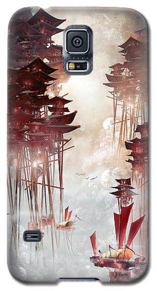 Moon Palace Galaxy S5 Case by Te Hu