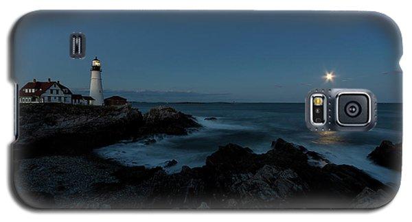 Moon Rise At Portland Headlight Galaxy S5 Case
