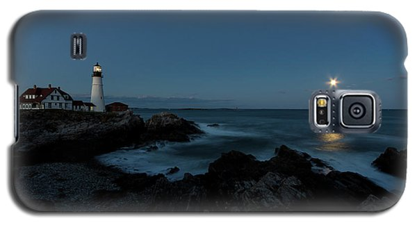 Moon Rise At Portland Headlight Galaxy S5 Case
