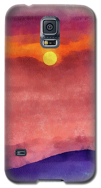 Moon Rise In Aquarelle Galaxy S5 Case