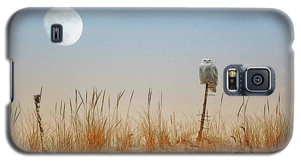 Moon Rise Snowy Owl Galaxy S5 Case