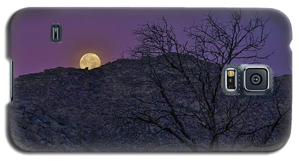 Moon Set At Sunrise Galaxy S5 Case