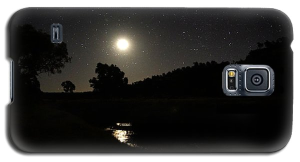 Moon Set Over Palm Valley 2 Galaxy S5 Case by Paul Svensen