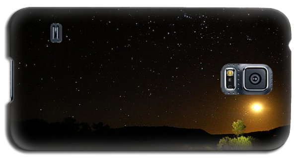 Moon Set Over Palm Valley Galaxy S5 Case by Paul Svensen