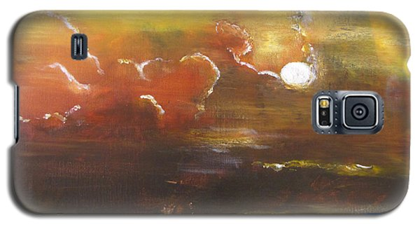Galaxy S5 Case featuring the painting Moon Shadows by Gary Smith