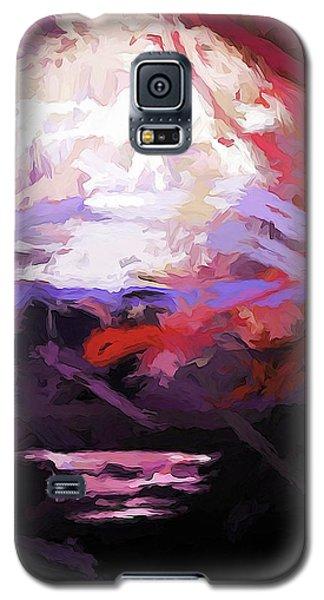 Moon Sky Pink Sea Galaxy S5 Case