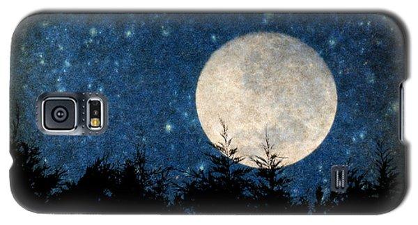 Moon, Tree And Stars Galaxy S5 Case
