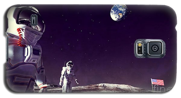 Galaxy S5 Case featuring the digital art Moon Walk by Methune Hively