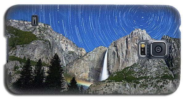 Moonbow And Startrails  Galaxy S5 Case