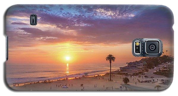Moonlight Beach Sunset Galaxy S5 Case