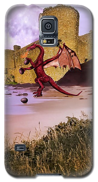 Moonlight Dragon Attack Galaxy S5 Case by Diane Schuster