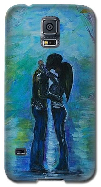 Galaxy S5 Case featuring the painting Moonlight Kiss Series 1 by Leslie Allen