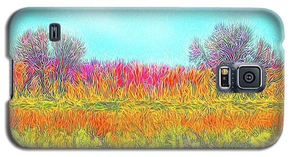 Galaxy S5 Case featuring the digital art Moonlight On Golden Fields - Boulder County Colorado by Joel Bruce Wallach