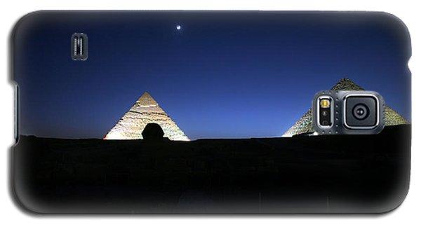 Moonlight Over 3 Pyramids Galaxy S5 Case