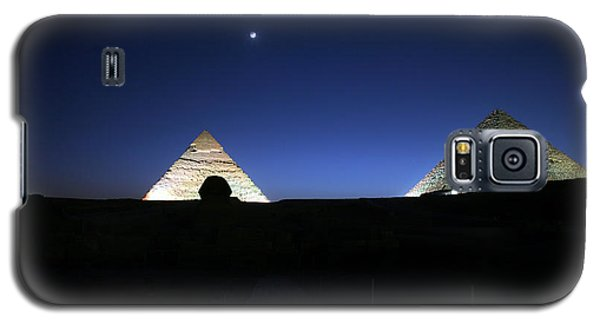Moonlight Over 3 Pyramids Galaxy S5 Case