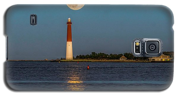 Moonlight Over Barnegat Lighthouse Galaxy S5 Case