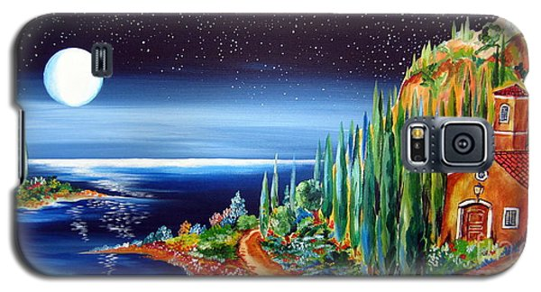 Moonlight Over My Tuscan Villa Galaxy S5 Case by Roberto Gagliardi