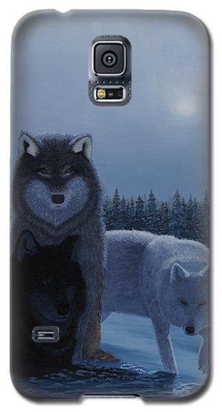 Moonlight Wolves Galaxy S5 Case